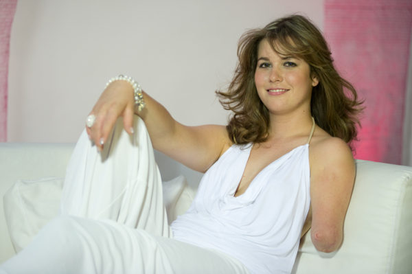 Monika, une jeune femme courageuse qui a été lauréate à Miss Handicap