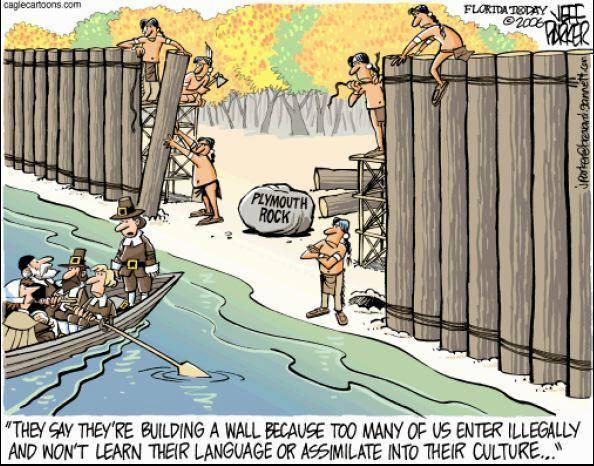 """""""Ils disent qu'ils sont en train de construire un mur parce que trop de nous autres entrent illégalement et ne veulent pasd apprendre leur langue ou s'assimiler à leur culture..."""""""