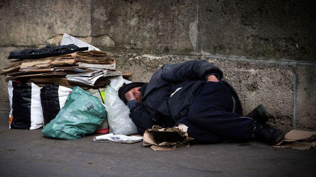 Sans abri en France - photo Joël Saget AFP